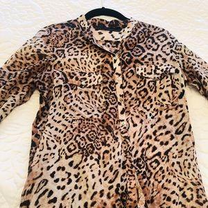 Zara leopard tunic size xs